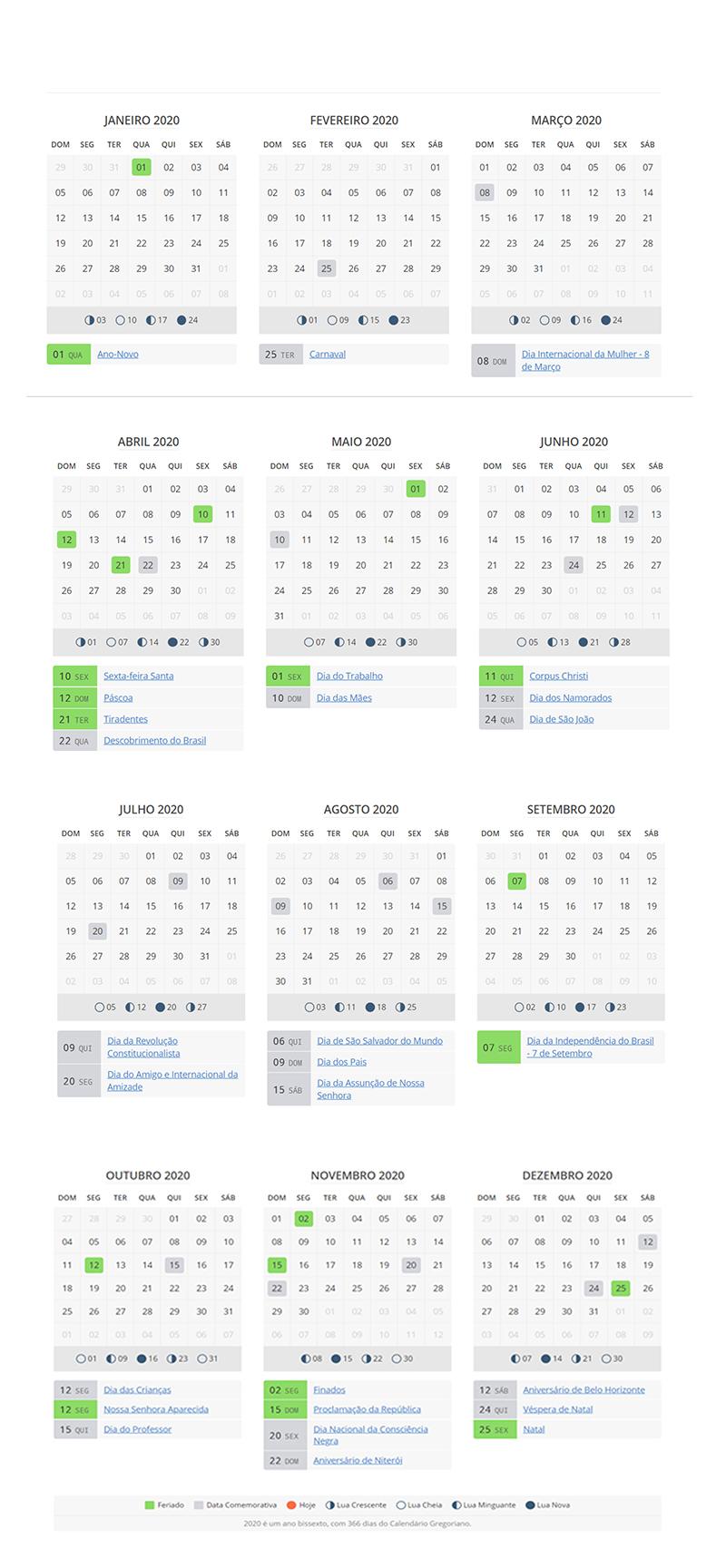 Calendario 2020 Semanas.Propagcom Bi Semanas